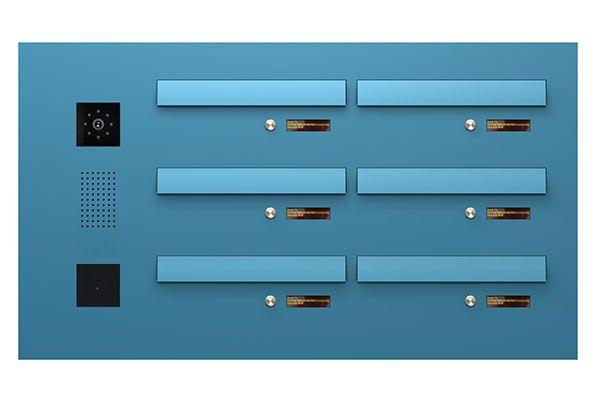 Serie 610 fra skitse til færdigt produkt - Serie 610 med postkasser