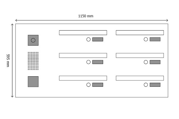Tegning web - Serie 610 med postkasser