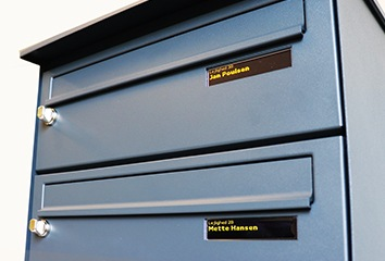 postkasse display